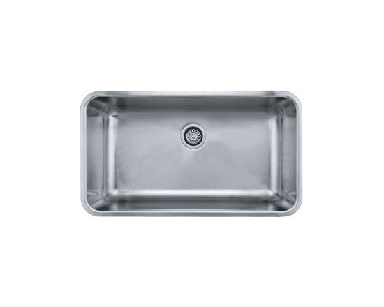 "Franke - Franke GDX11031 Stainless Steel Grande Grande 18-3/4"" x 32-3/4"" Single - Grande 32-3/4"" Undermount Single Basin Stainless Steel Kitchen SinkThe Grande Collection from Franke brings you the simplicity of shape, the functionality of a flat surface, and the convenience of wide corners for easy cleaning. With these basic ideas in mind we believe the Grande Collection makes for the perfect kitchen sink.Franke GDX11031 Features:Stainless steel construction ensures durability and reliabilitySingle basinRear drain location optimizes usable room in sink basinMinimum Cabinet Size: 33""Extra deep basin supplies maximum workspaceFranke GDX11031 Specifications:Material: Stainless SteelOverall Size: 32-3/4"" x 18-3/4"" x 9""Installation Type: UndermountSink Shape: RectangularBasin Depth: 9""Basin Length: 17""Basin Width: 31""Drain Location: RearGauge: 18Drain Connection: 3-1/2"""