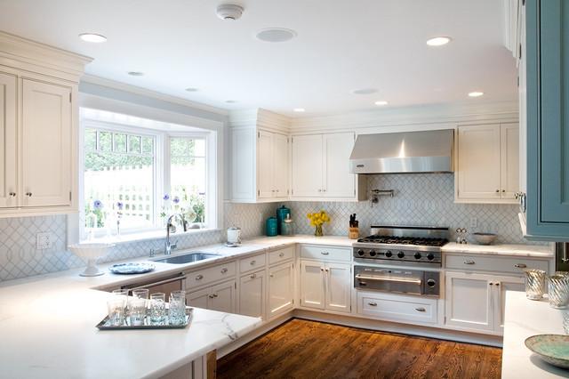 Greenwich Modern Tudor traditional-kitchen