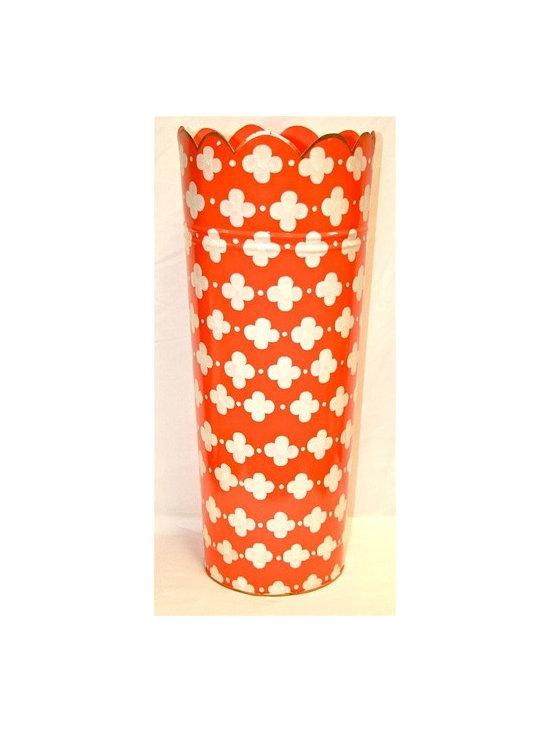 """Umbrella Stand """"Coptic Trellis Orange"""" -"""