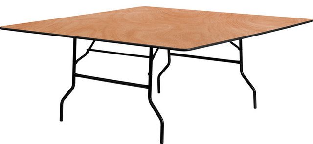 72'' Square Wood Folding Banquet Table contemporary-dining-tables