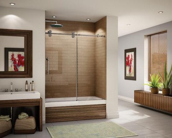 Shower Doors - Sealed Stainless Steel Bearings