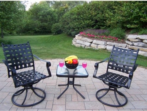 Oakland Living Web 3 Piece Swivel Chat Set contemporary-patio-furniture-and-outdoor-furniture