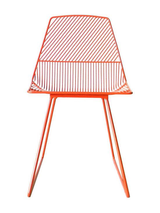 Ethel Wire Chair, Orange -