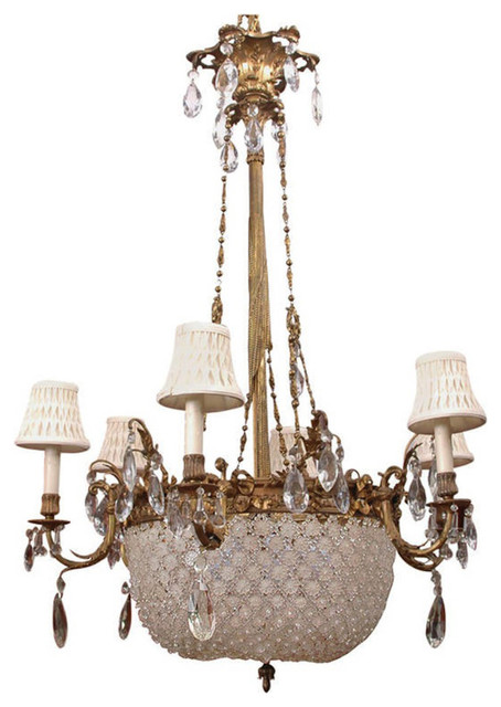 French Louis Xvi Baccarat Style Bronze And Crystal