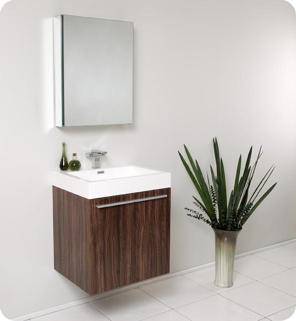 fresca alto walnut modern bathroom vanity w medicine cabinet modern