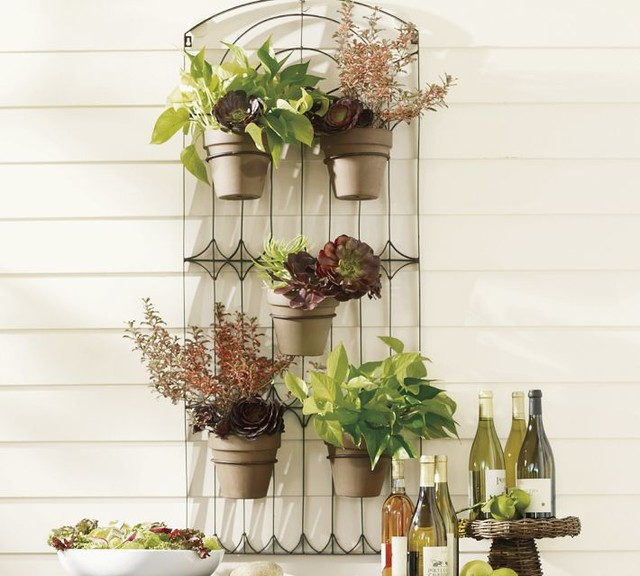 traditional outdoor pots and planters