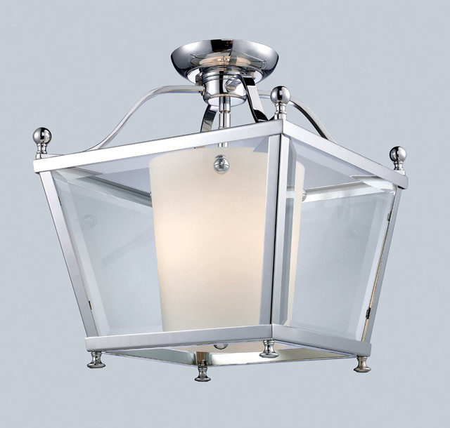 Z-Lite 178-3SF-M Ashbury 3 Light Semi-Flush Mounts in Chrome transitional-ceiling-lighting