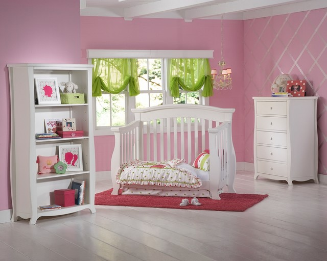 renaissance crib converted into toddler bed traditional
