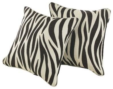 Sure Fit Animal Print Pillow Shells, Black eclectic-decorative-pillows
