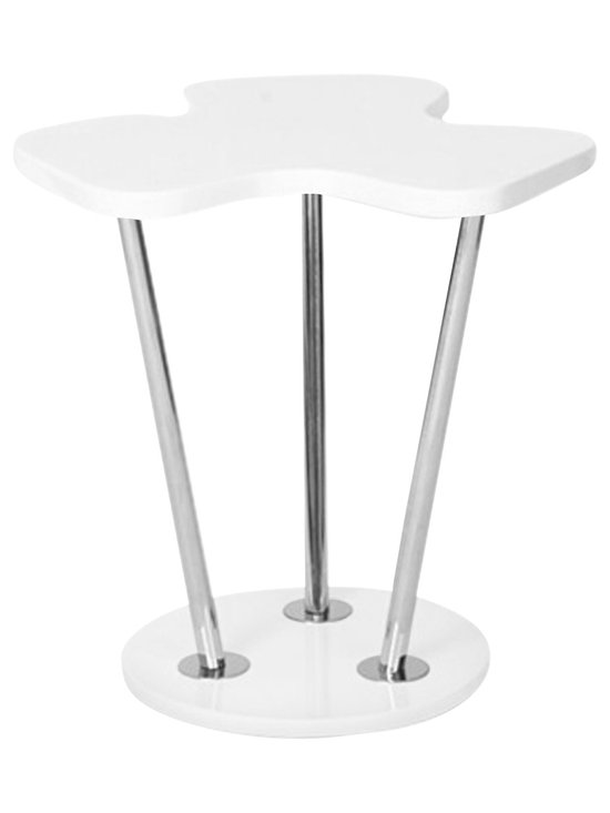 """Lumisource - Clover Side Table, White - 21.25"""" L x 19.25"""" W x 22"""" H"""