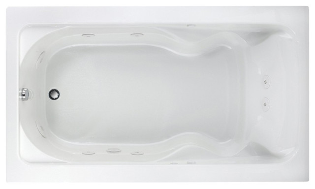 Cadet 72 Inch X 42 Inch Drop In Whirlpool Tub In White Contemporary Batht