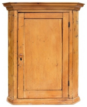 Pine Hanging Corner Cupboard - Rustic - Kitchen Drawer ...