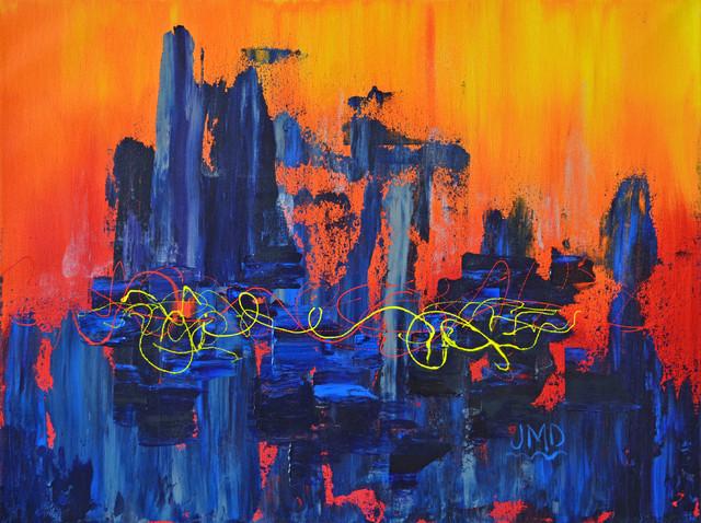 City Never Sleeps contemporary-artwork