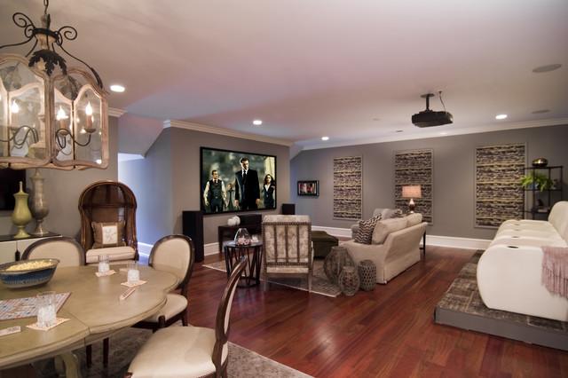 Home Theater - modern - media room - charlotte - by Kelly Cruz ...