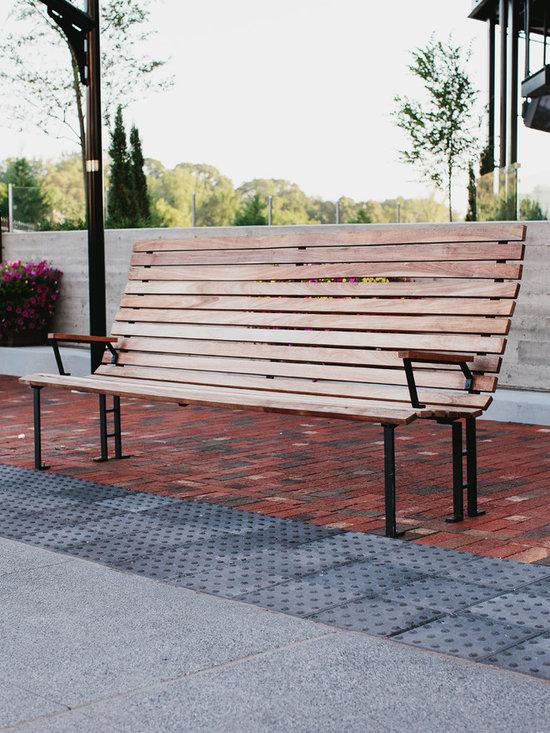 Skylar Morgan Furniture + Design - Outdoor Bench - IPE + steel bench