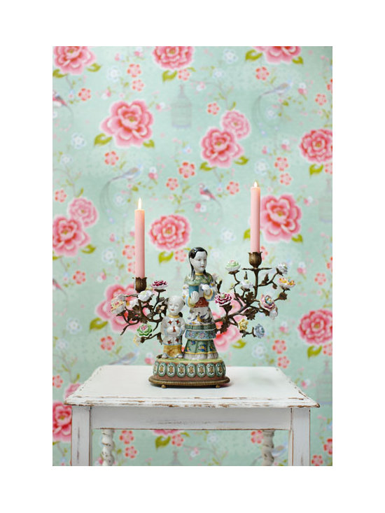 Floral Wallpaper - A stunning bird and floral wallpaper by Eijffinger available from Brewster Home Fashions