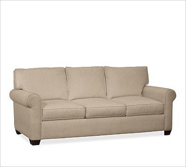 Buchanan Upholstered Sleeper Sofa, Polyester Wrap Cushions, Twill Walnut traditional-sofas