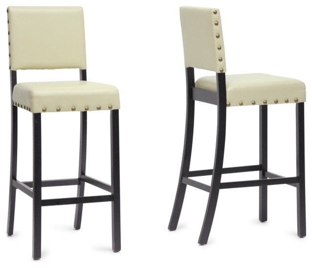Baxton Studio Walter Cream Modern Bar Stool Set of 2  : transitional bar stools and counter stools from www.houzz.com size 638 x 548 jpeg 37kB
