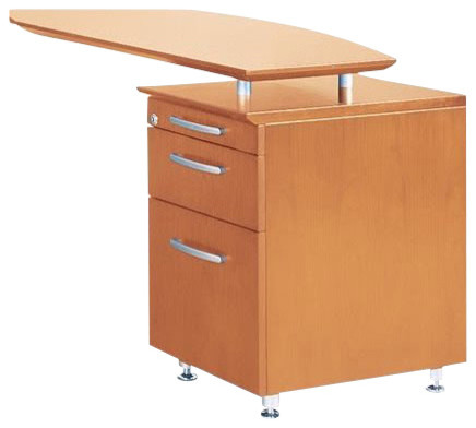 Mayline Napoli Pencil Box File Pedestal for Return-Sierra Cherry Veneer transitional-filing-cabinets-and-carts