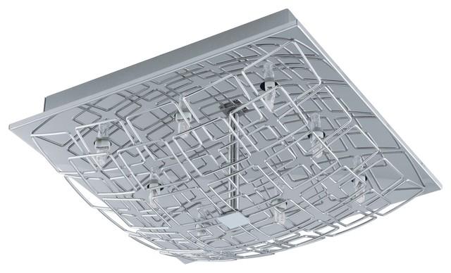 Eglo 91491A Cromer 1 Contemporary Flush Mount Ceiling Light contemporary-flush-mount-ceiling-lighting