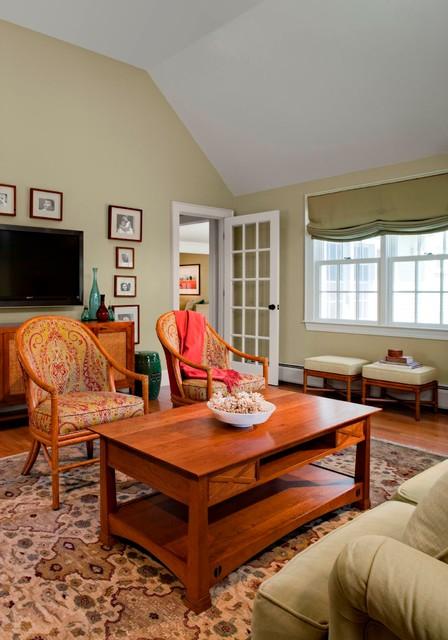 Classic New England Cape Traditional Living Room Boston By Leblanc Design