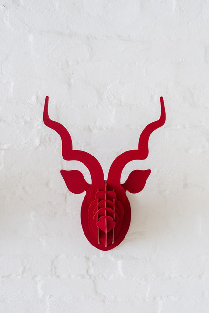 Kudu Head (leather) eclectic accessories and decor