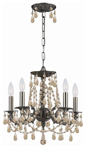 Golden Teak Hand Cut Wrought Iron Chandelier modern-chandeliers