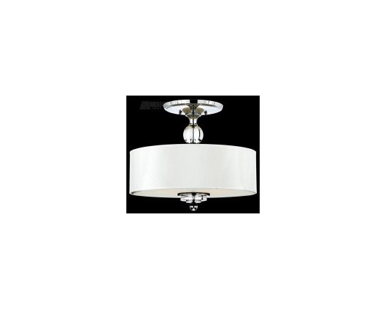 White nickel transitional ceiling light - http://shop.southshoredecorating.com/QZ-DW1717C