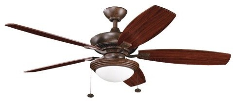 Kichler 300016TZ Canfield Select 52 in. Indoor Ceiling Fan - Tannery Bronze - En contemporary ceiling fans