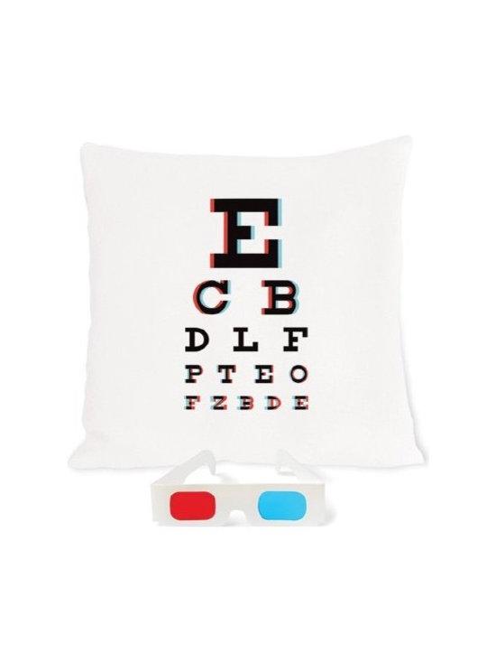 3-D Eye Chart Pillow -