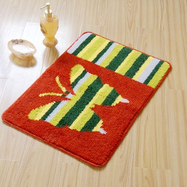 Bright Beautiful Butterfly Rug Bath Mat modern