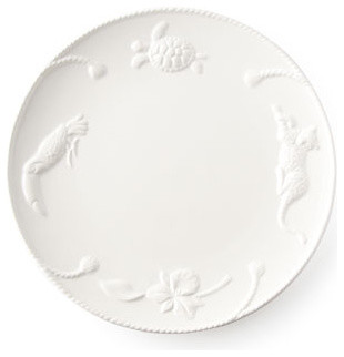 Lynn Chase Designs Four Jaguar Blanc Dinner Plates traditional-plates