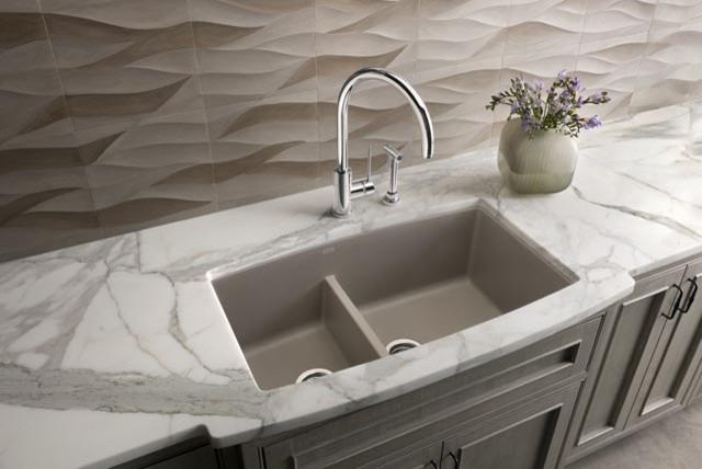 Blanco Truffle Sink : Blanco Performa Silgranit II 1-3/4 Medium Bowl - Truffle contemporary ...