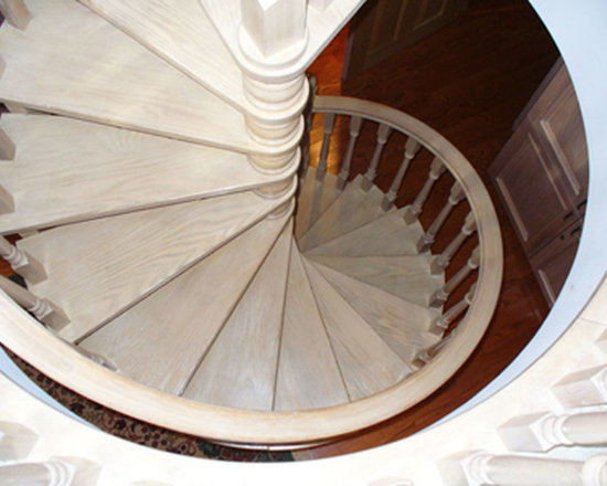 Custom Stairs - Spiral Stairs are efficient and interesting.