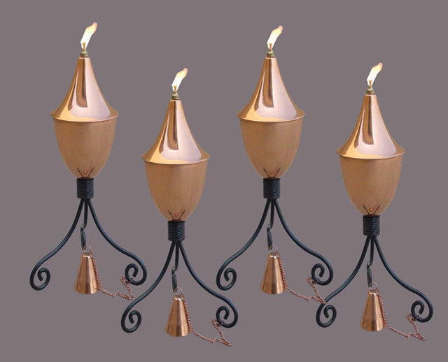 Amazon Black Powder-coated Iron Copper Torch contemporary-candles-and-candleholders