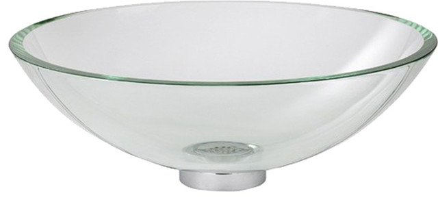 American Standard Dorian Glass Above Counter Vessel Clear Contemporary