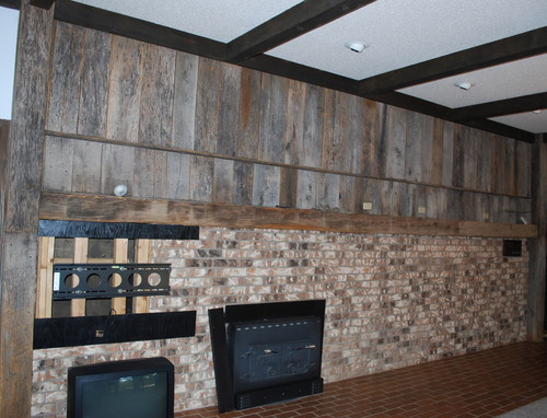 What To Do With This Barn Wood Brick Wall