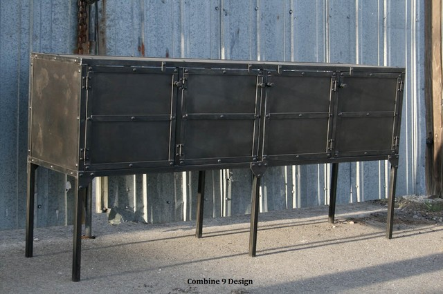 Buffet hutch sideboard vintage industrial mid century for Sideboard loft
