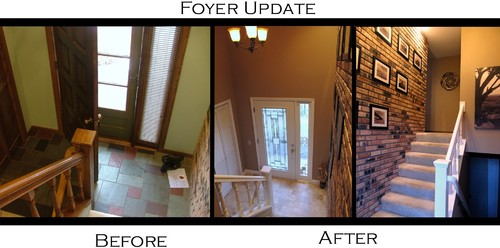 Before And After 70s Split Entry Foyer Updated
