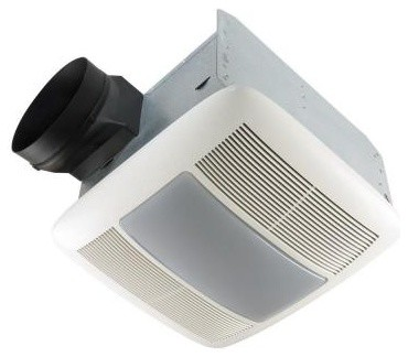 Bath Fans: NuTone Ultra Silent 150 CFM Ceiling Exhaust Bath Fan with Light and N contemporary-ceiling-fans
