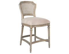 Camilla French Country Washed Ribbed Taupe Linen Counter Stool transitional-bar-stools-and-counter-stools