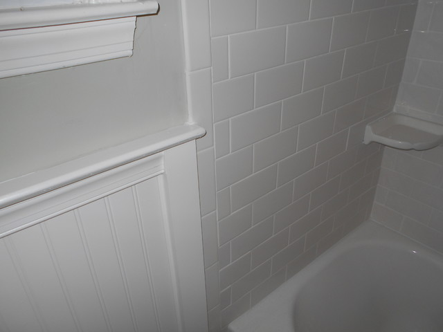 Color Palette And Schemes For Tile Wainscoting Bathroom