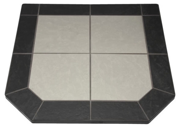 "Night Shadows Tile Double Cut Stove Board, 48"" x 48"" modern-fireplace-accessories"