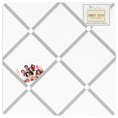 Diamond Gray and White Fabric Memo Board by Sweet Jojo Designs traditional-bulletin-boards-and-chalkboards