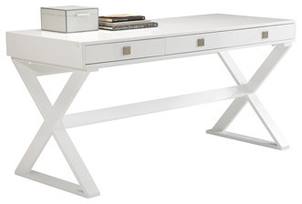 Emilo White High Gloss Desk/ Console Table modern-side-tables-and-end-tables