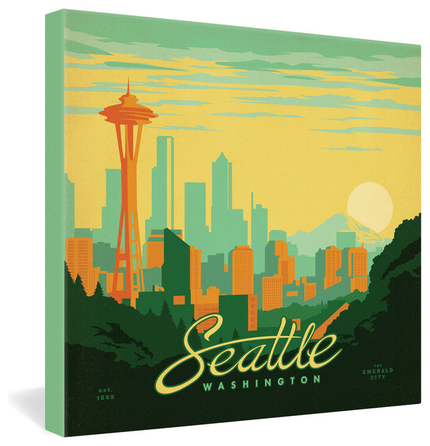 Anderson Design Group Seattle Gallery Wrapped Canvas contemporary-prints-and-posters