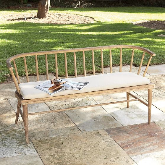 Modern Outdoor Benches : Dexter Outdoor Bench - Modern - Outdoor Benches - by West Elm