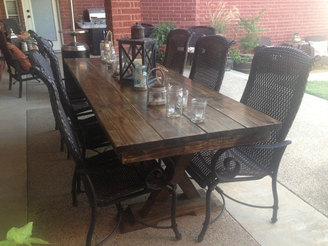 8ft Outdoor Trestle Table Farmhouse Dining Tables