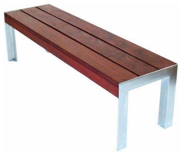 Modern Outdoor Etra Small Bench Modern Outdoor Benches