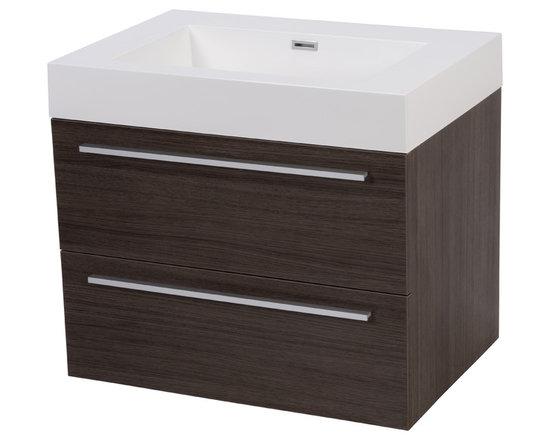 "27"" Valtura Modern Wall Mounted Bathroom Vanity & Basin -"